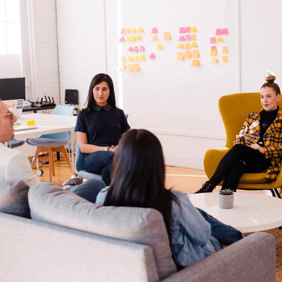 Maya AI founders brainstorming