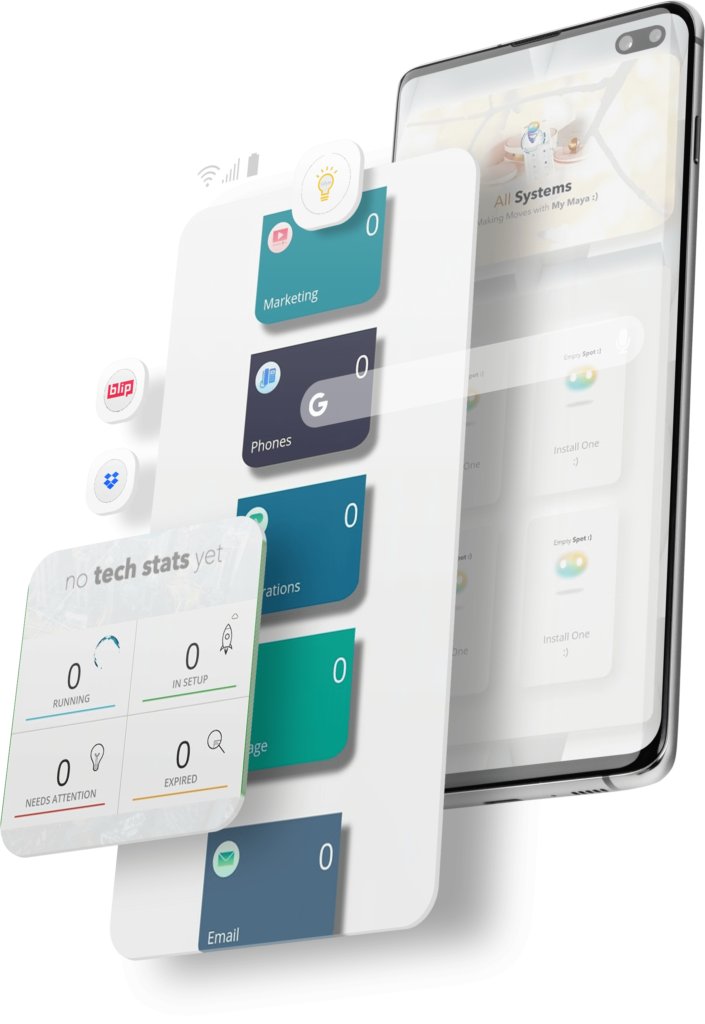 Meet Maya tech room screenshot graphic