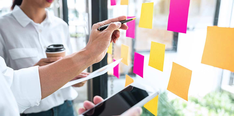 Maya business team working on marketing growth